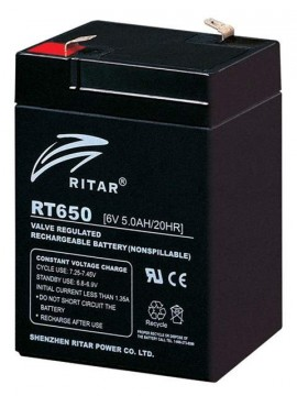 Ritar RT650 AGM Batteri 6V 5AH