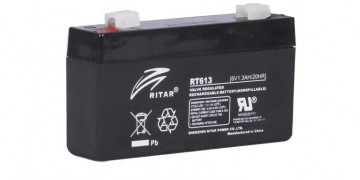 Ritar RT613 AGM Batteri 6V 1,3AH