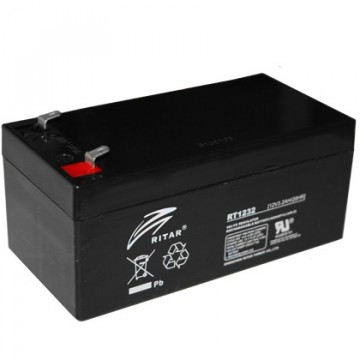 Ritar RT1232 AGM Batteri 12V 3,2AH