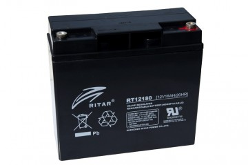 Ritar RT12180 AGM Batteri 12V 18AH