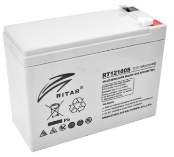 Ritar RT12100S AGM Batteri 12V 10AH
